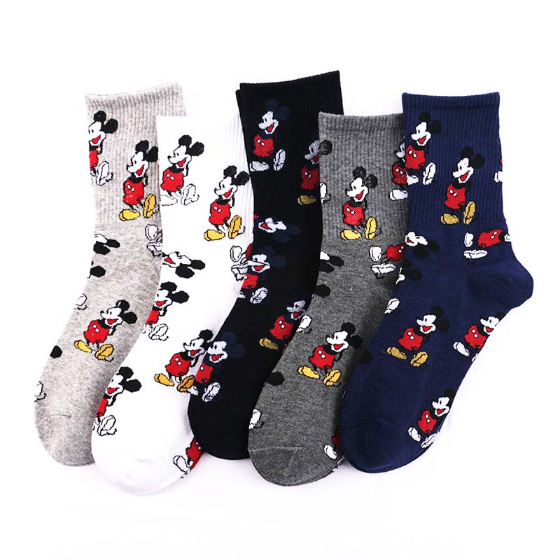 ARMKIN Korean Style Women Cute Cartoon Mouse Socks Fashion Funny Happy Novelty Autumn Winter Women Sock Cotton Calcetines Mujer