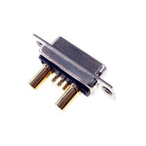 Image 3 - D conector Sub 30 AMP Actual 7 posición 5 + 2 Combo receptáculo hembra clavija mecanizada 7W2 oro montaje en Panel de alambre de soldadura