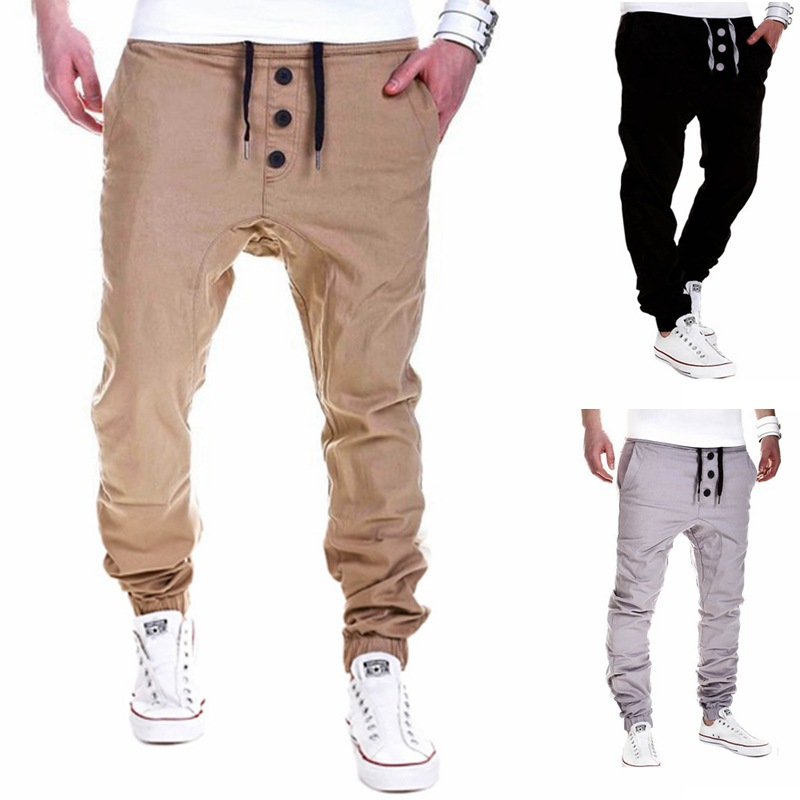 2016 Autumn And Winter New Style MEN'S Casual Pants With Drawstring Elastic Gymnastic Pants K31