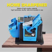 3 In 1 EU/US Multifunction Electric Knife Sharpener Drill Sharpening Machine Knife & Scissor Sharpener Household Grinding Tools