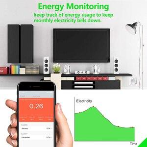 Image 3 - 16A Smart Plug WiFi con Power Monitor, wifi Intelligente senza fili Presa di corrente con Alexa Google Casa di Controllo Vocale