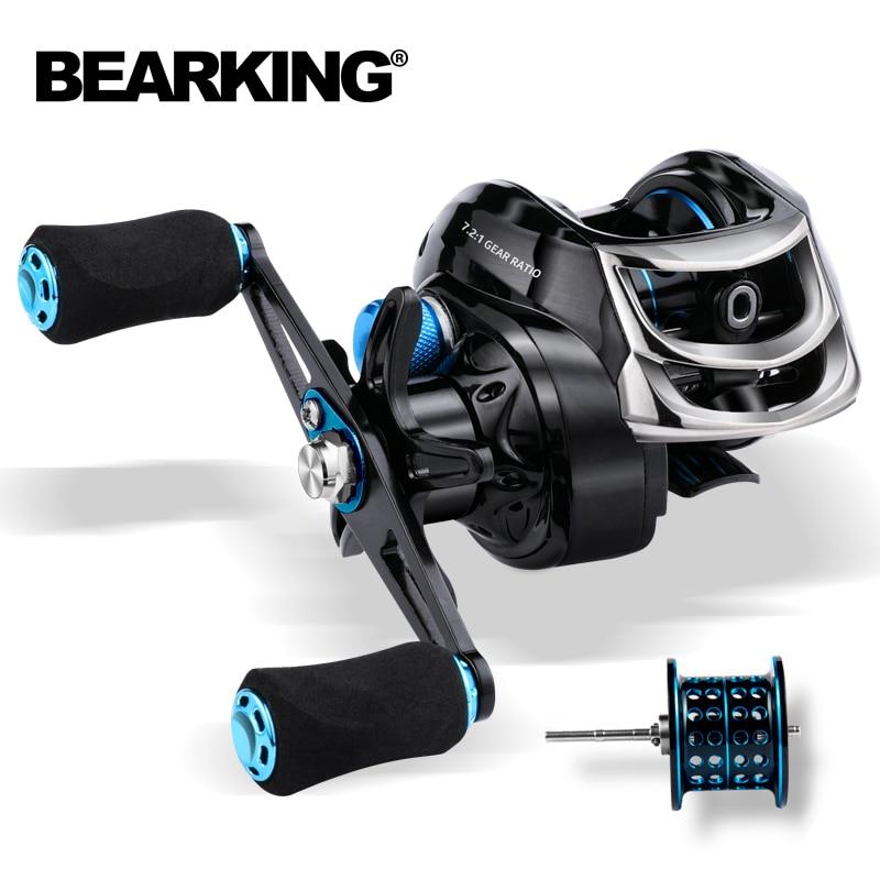BEARKING Baitcasting Reel 8KG Max Drag 7.2:1 High Speed Fishing Reel Reinforced Reel Drag Reel Carp Drag Reel Fishing 1