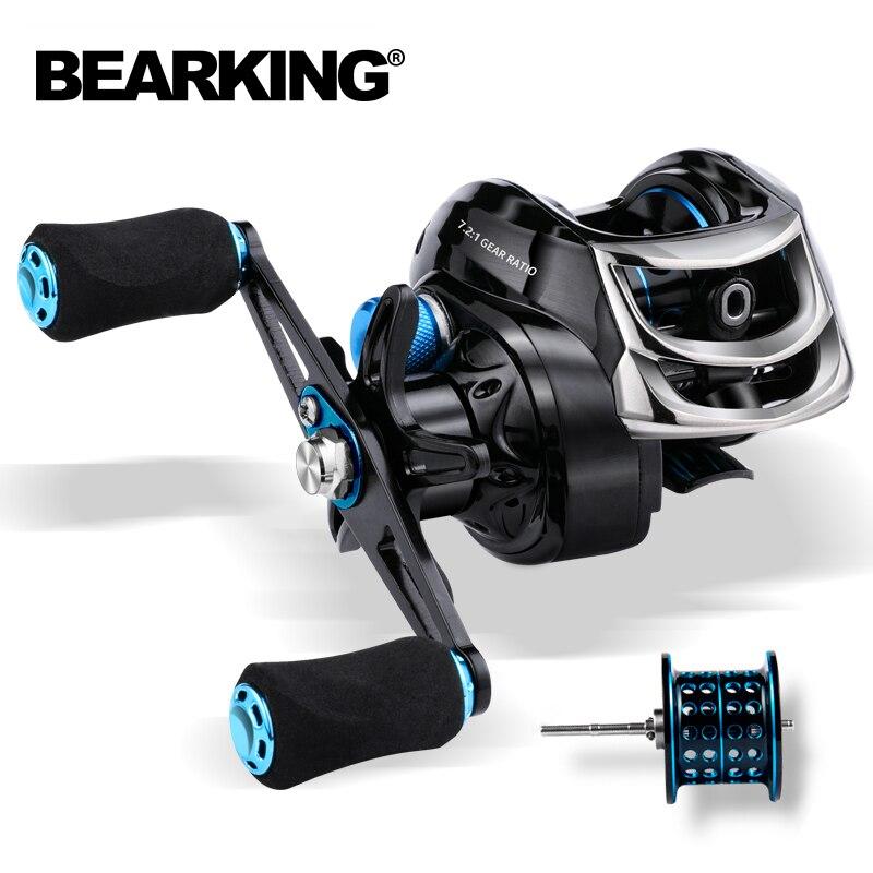 BEARKING Baitcasting Reel 8KG Max Drag 7.2:1 High Speed Fishing Reel Reinforced Reel Drag Reel Carp Drag Reel Fishing
