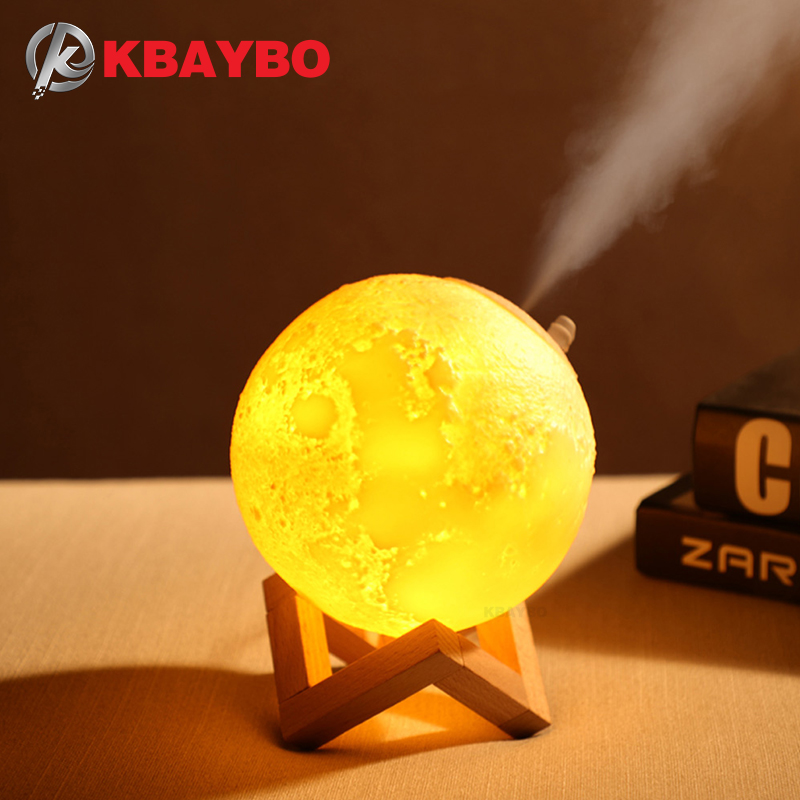 KBAYBO 880ML USB Air Humidifier Ultrasonic Humidifiers Portable Air Mist Maker Aromatherapy Diffuser Aroma Mist Maker For Home
