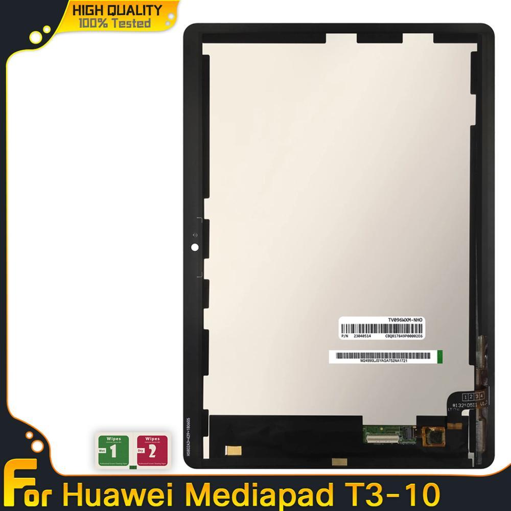 Pantalla LCD para Huawei MediaPad T3 10 AGS-L03 AGS-L09 T3, montaje de digitalizador con pantalla táctil + marco para Mediapad T3 10, AGS-W09