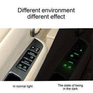 Image 4 - Toyota yaris için Seat TOLEDO Leon EXEO Mk3 Mk2 5f Ateca Altea Fr 1m Arona kapı pencere asansör düğme ışık araba Sticker