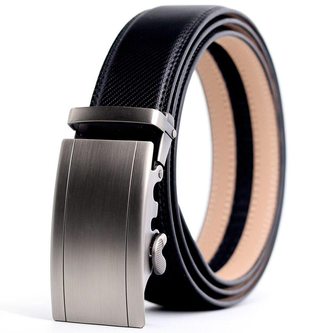 CETIRI Top Quality Belts For Men Genuine Leather Belt Men Belt Male Automatic Buckle black Strap Cummerbunds cinturon hombre|Men