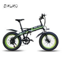 Bicicleta elétrica 20*4.0 Polegada alumínio dobrável 48v10ah 500w pneu de gordura poderosa bicicleta montanha neve