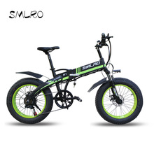 Bike Mountain Snow Bicycle Electric-Bike Foldable 48V10AH Fat-Tire Powerful 20--4.0inch