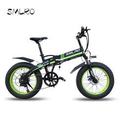Electric bike 20 * 4.0 Inch Aluminum Foldable 48V10AH 500W Powerful Fat Tire Bike Mountain Snow Bicycle