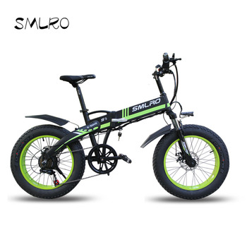 Electric bike 20 * 4.0 inch aluminum foldable bikes 48V10AH 500W powerful Fat Tire Mountain Snow bicycle