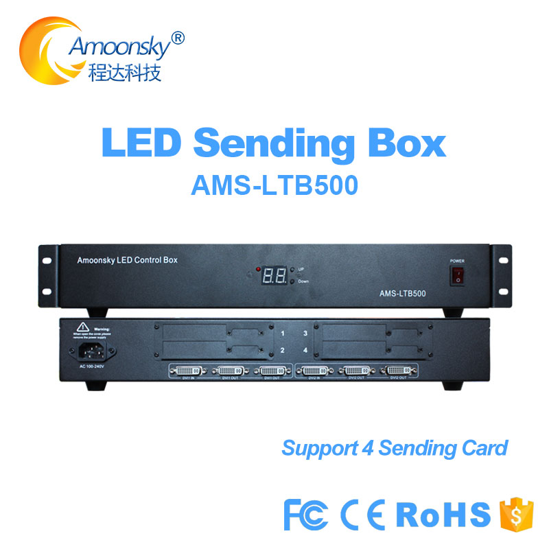led video wall external sender box LTB500 support 4 sending cards like linsn ts802d nova msd300 colorlight s2 for led screen|Display Screen| |  - title=