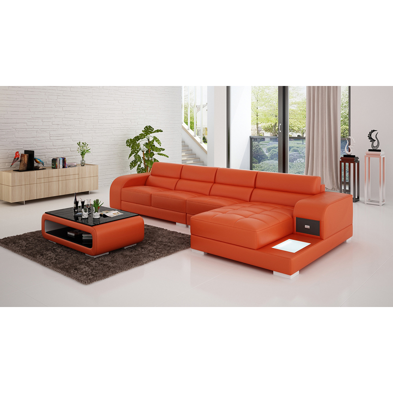 Modern lazy boy leather recliner sectional sofa with