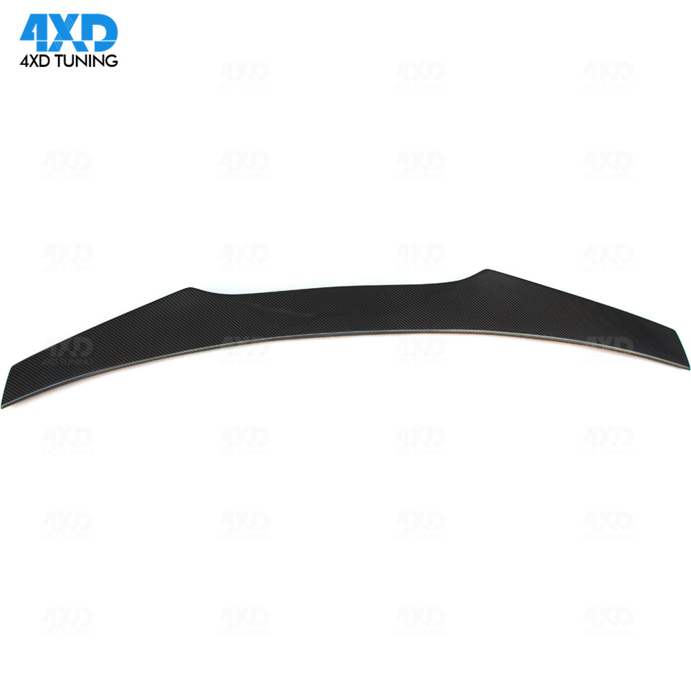 Carbon Rear spoiler A Style For Ford <font><b>Mustang</b></font> Coupe <font><b>2015</b></font> 2016 2017 2018 2019 Rear Spoiler Rear Bumper Trunk <font><b>Wing</b></font> Glossy Black image
