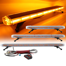 """30inch to 72inch COB LED Strobe Light Bar Rooftop Car Trucks Police Emergency Flashing Warning Lights 47"""" 55"""" Red Blue Yellow"""