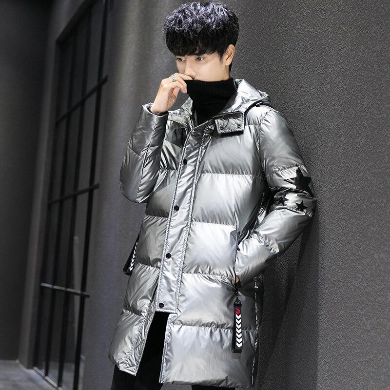 Модное мужское черное шерстяное пальто с воротником из искусственного меха, съемные толстые теплые двубортные длинные пальто с отворотом р... - 3