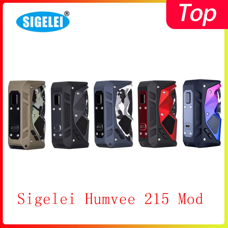 Newest Sigelei Humvee 215 Mod Powered By Dual 18650 215W Vape Humvee Box Mod Fit 510 Thread Tank  VS Aegis Legend Mod