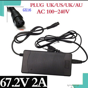 Image 1 - 67.2V 2A lowest price high quality charger output 67.2V 2A for 60V harley citycoco electric scooter charger free shipping
