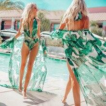 Women Beach Blouse Dress Market Banana Leaf Skirt Bikini Robe Holiday Sunscreen Bathrobe Cardigan