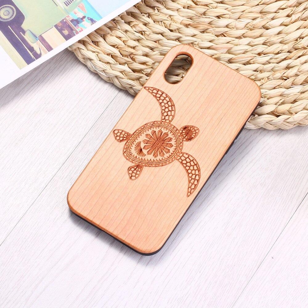Sea Turtle Wood Phone Case ( iPhone 6, 6S, 6Plus, 7, 7Plus, 8, 8Plus, XR, X, XS Max ,11 Pro Max) 3