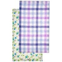 Set of 2 Towels Tenderness, 30X50cm, Linen 100%, White.