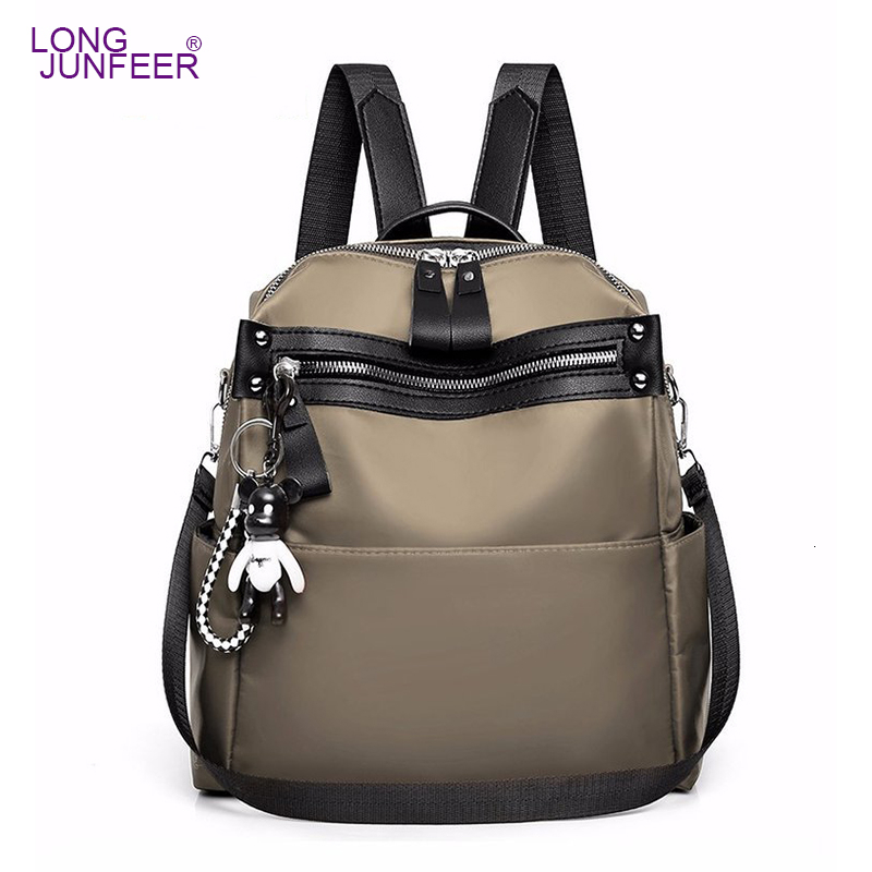 Women Oxford Backpack Waterproof Fabric Large Female Shoulder Bag Large Capacity Simple Style Casual Mochila Travel Bendy ZL146