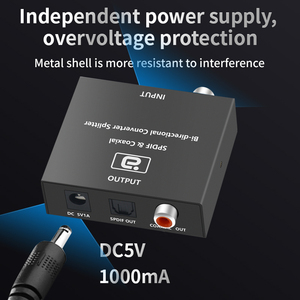 Image 5 - محول AYINO 24bit 192K DAC 5.1AUDIO رقمي إلى تناظري, محول فك تشفير الصوت DTS AC3 الألياف البصرية محوري RCA 3.5 مللي متر 5.1 بوصة