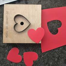 Heart shape leather craft template cutter cup mat coaster die cutting knife mold leather hole punches Steel Blade Rule Die Cut(China)