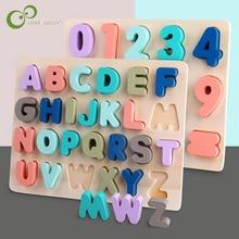 Giocattoli per bambini in legno giocattoli Montessori forma di alfabeto digitale abbinamento Puzzle di matematica apprendimento prescolare giocattolo educativo per bambini ZXH