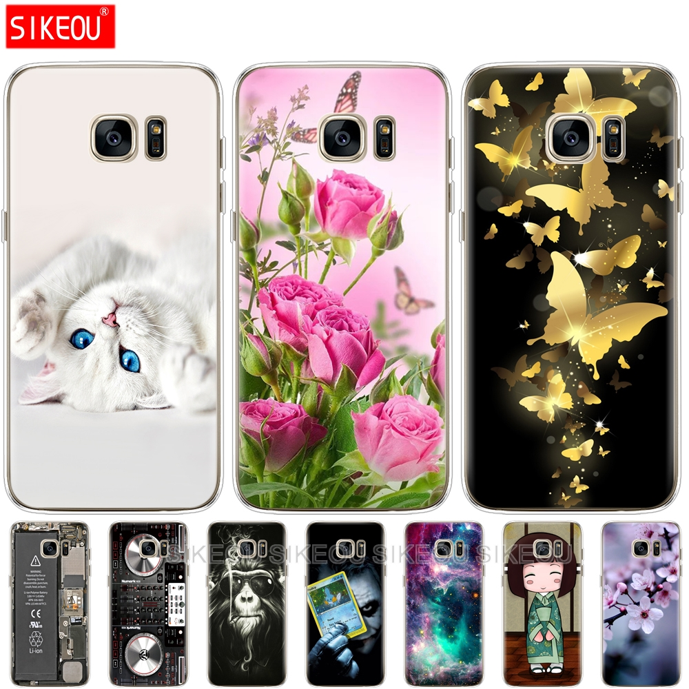 Case For Samsung Galaxy S7 egde case Cover for Samsung Galaxy S5 S6 edge Case for Samsung S7 S6 G920F S5 i9600 Cover Silicon image