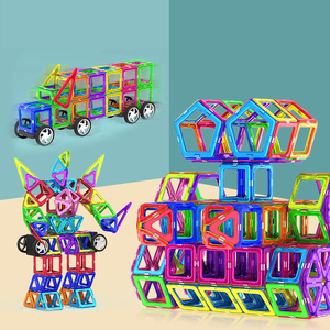 Magnetic Toys Magnets Kids Blocks Educational Girl Boy Construction Designer Set Castle Plane Car Creative Children Gift(China)