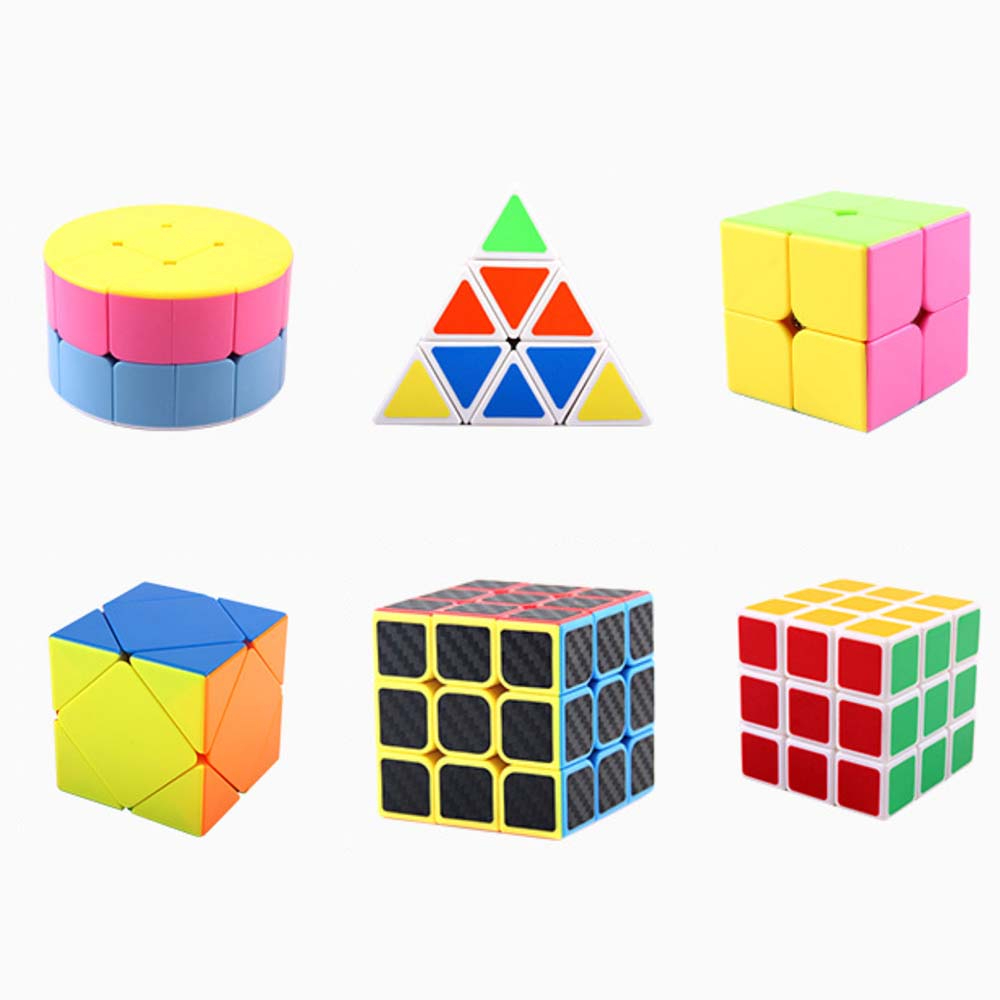 Professional Triangle Pyramid Magic Cube Speed Cubes Puzzle Neo Cylinder Magico Cubo Adult Education Toys For Children Gift