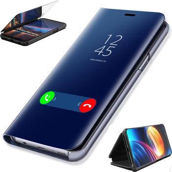 Poszycia inteligentne lusterko telefon etui na LG K51S K41S K61 V60 K50S V50 K50 Q60 V40 V30 Plus okładka tanie i dobre opinie CN (pochodzenie) Etui z klapką plating Smart Mirror Phone Case Matowy Zwykły Luminous Odporna na brud Anti-knock Podpórka