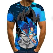 Mini dragon ball z super Saiya is a 3D printed version of Goku animation, latest popular leisure cartoon men's T-shirt in 2020(China)