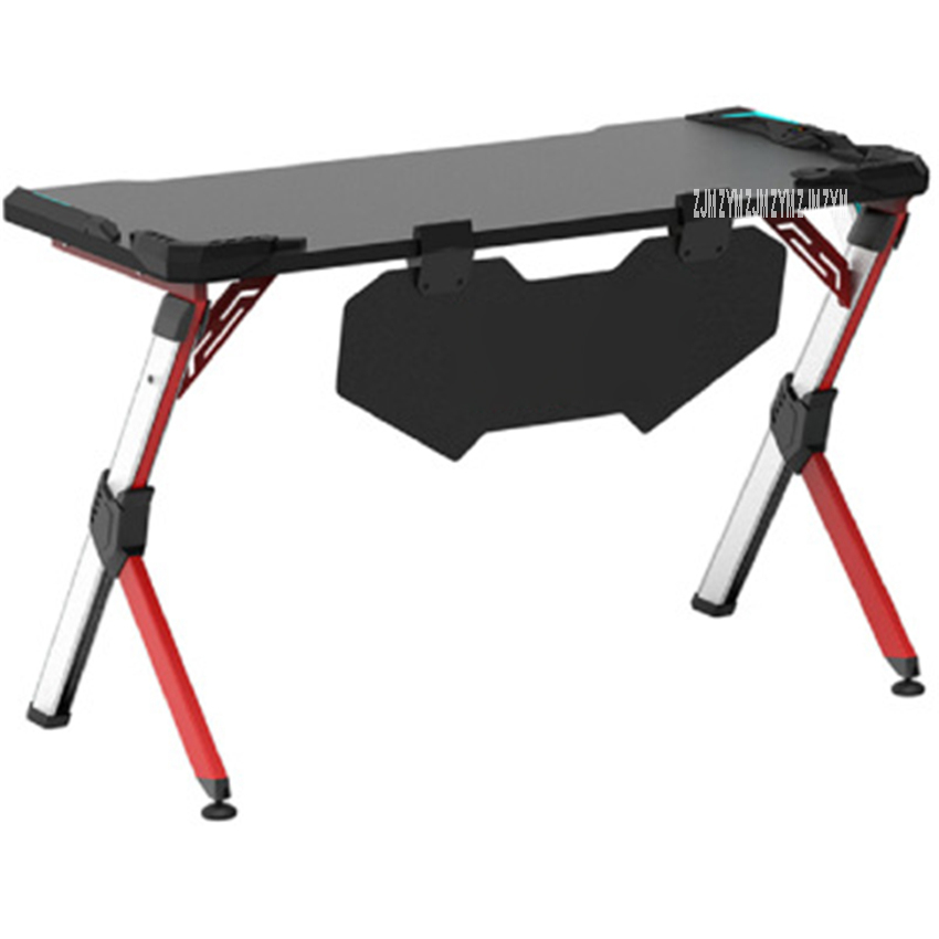 R-D Modern Simple E-Sports Computer Table Gaming Laptop Desk Profession Aluminum Alloy R-shape Leg Single Player Gamers Table