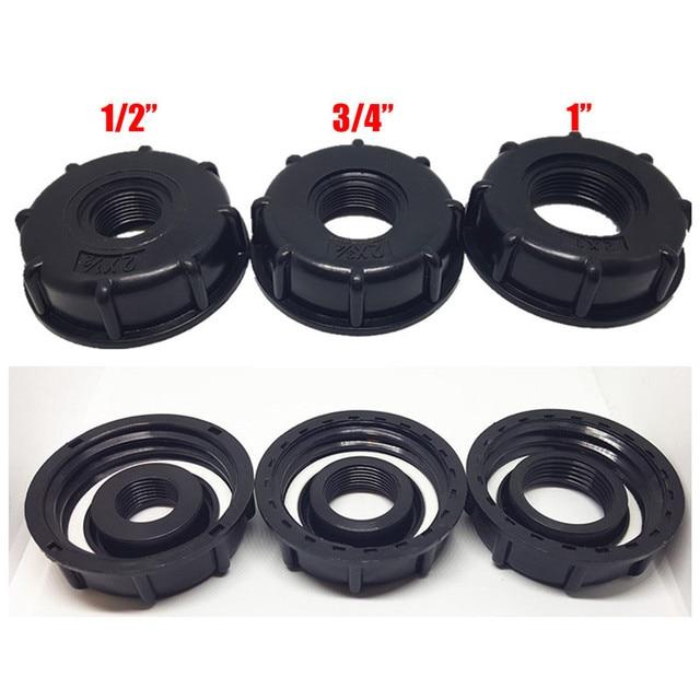 1/2 inç 3/4 inç 1 inç iplik IBC tankı adaptörü musluk bağlantısı yedek vana uydurma ev bahçe su konnektörleri