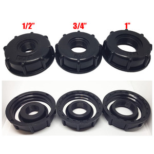 Image 1 - 1/2 inch 3/4 inch 1 inch Thread IBC Tank Adapter Tap Connector Replacement Valve Fitting For Home Garden Water Connectors