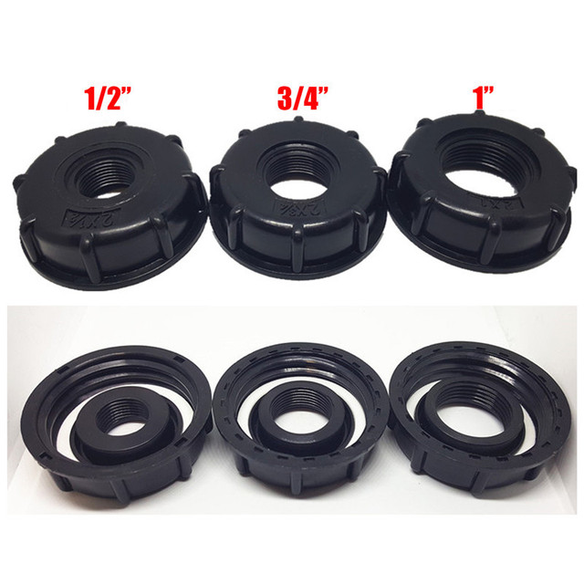 1/2 inch 3/4 inch 1 inch Thread IBC Tank Adapter Tap Connector Replacement Valve Fitting For Home Garden Water Connectors
