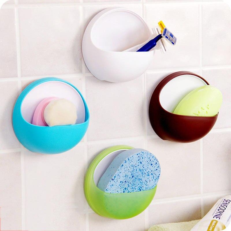Bathroom Soap Box Dish Storage Plate Tray Holder Case Soap Holder Bathroom Accessories Box Shelf Wall Dishes