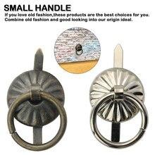10 шт. фурнитура для мебели ручки бронзовые маленькие ручки для шкафа ручки винтажная деревянная коробка для ювелирных изделий ручки для двери кольцо