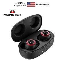 Monster Achieve-auriculares inalámbricos con Bluetooth 100, audífonos intrauditivos con micrófonos integrados, de carga rápida USB-C, 5,0 AirLinks