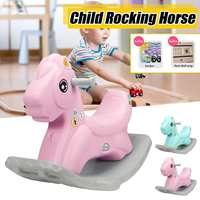 Rocking Horse Cute Ride On Animals rocking Chair Kids Toys Gifts Boys and Girls with Stickers