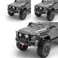 Metal Front Bumper with 2 LED Lights Cover for TRAXXAS TRX6 G63 TRX 4 G500 RC Car Upgrade Parts Accessories