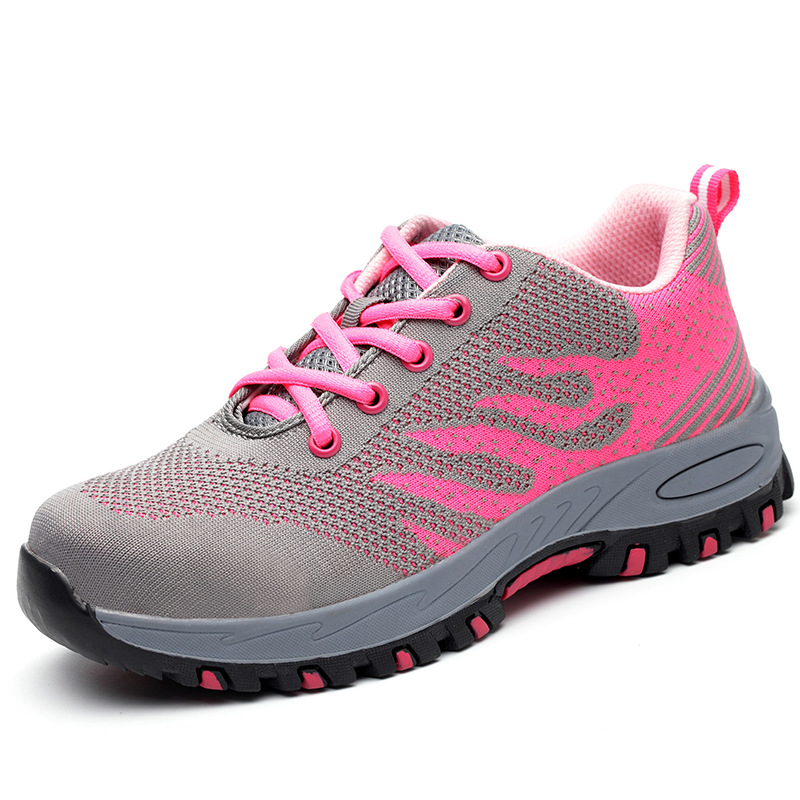 Steel Toe Work Shoes Work Boots For Mesh Women Lightweight Breathable Anti-smashing Non-slip Protective Safety Shoes SIZE-40