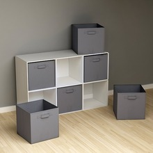 цена на folding Non-Woven Fabric storage box Closet Cubes Bins Organizer kid toy storage bins Offices for storage Organization