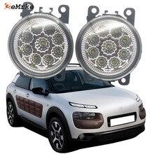2PCS Car Styling 9-Pieces LED Fog Light Lamp for Citroen C4 Cactus 2015 2016 2017 2018 2019 H11 12V Halogen Fog Lights DRL