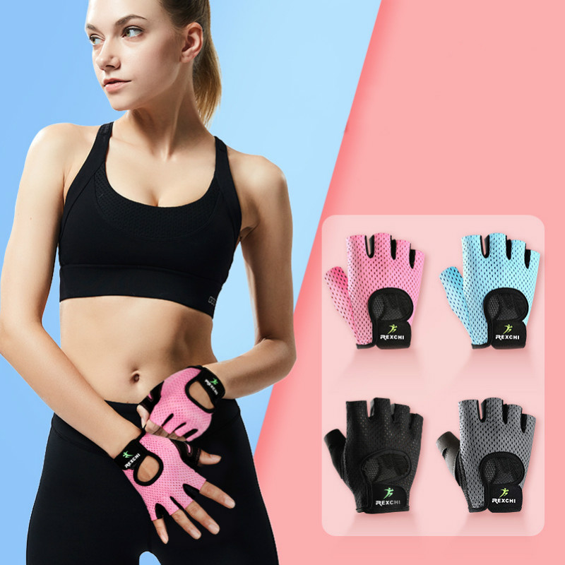 Профессиональные Перчатки для фитнеса, нескользящие перчатки для занятий йогой, половина пальцев, мужские и женские, для поднятия веса, защ...