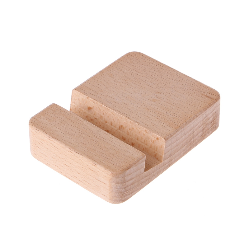 Portable Desk Cell Phone Wood Stand Holder Dock For Smartphone For IPhone IPad Mini