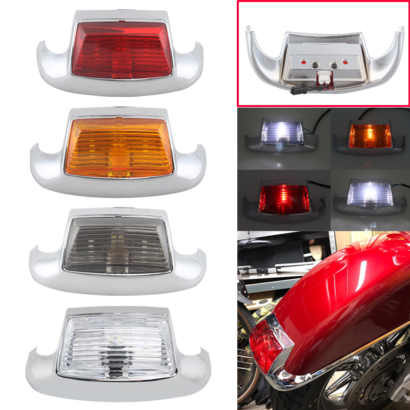 LED Fender Tip Light Front Leading Edge Rear Tailing Edge Driving Brake Light For Harley FLSTC Heritage Softail FLHT FLHTCU