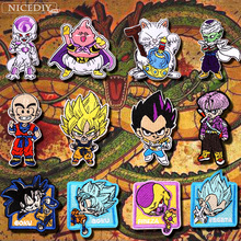 Nicediy DIY Anime Dragon Ball Patch Cartoon Embroidered Patches For Clothes Iron On Clothing Sticker Applique Stripe